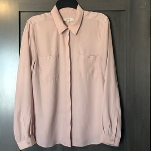 Perfect for spring! Blush button down with pockets